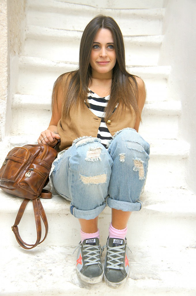 Look on boyfriend jeans Zara