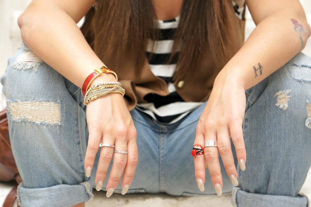Bracciali e anelli in oro