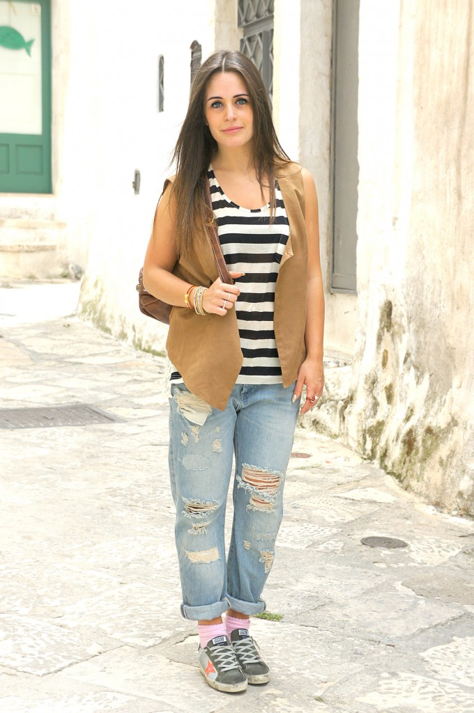 Boyfriend jeans Zara strappato - Inside Me