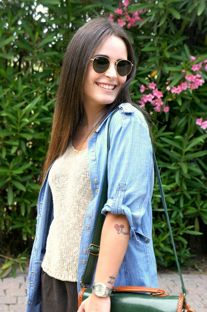 Camicia di jeans lunga