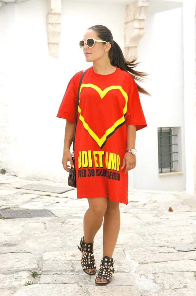 Maxi t-shirt Odi et Amo