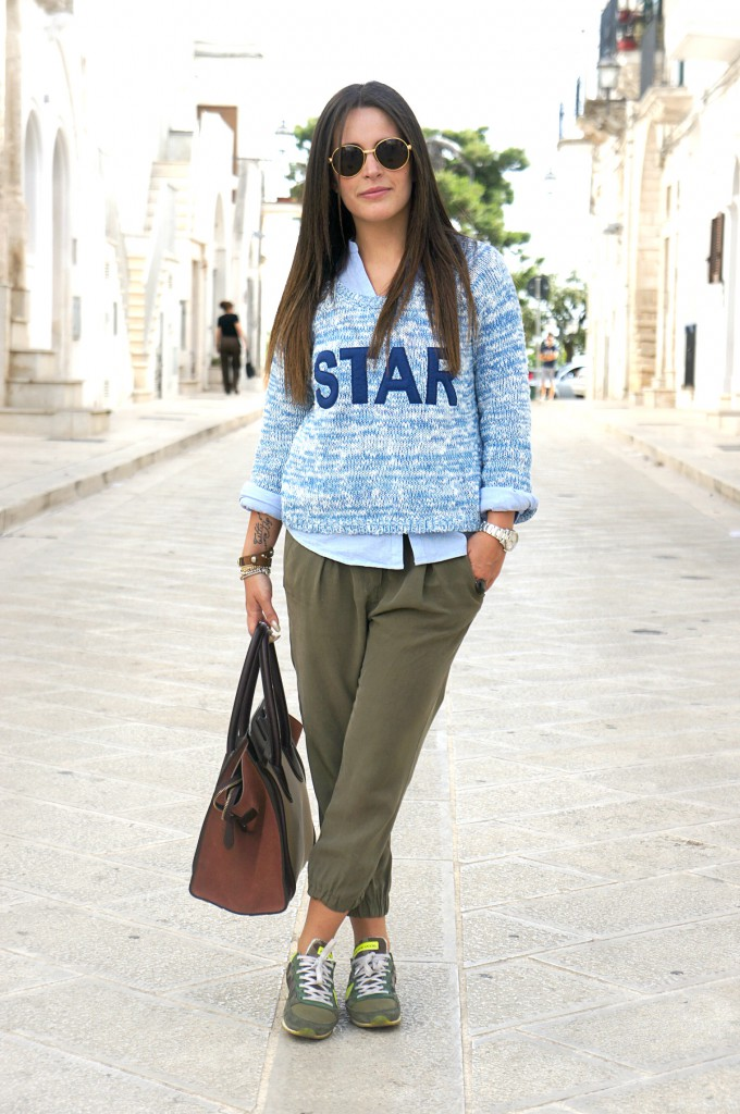 Blue Nike Sweater