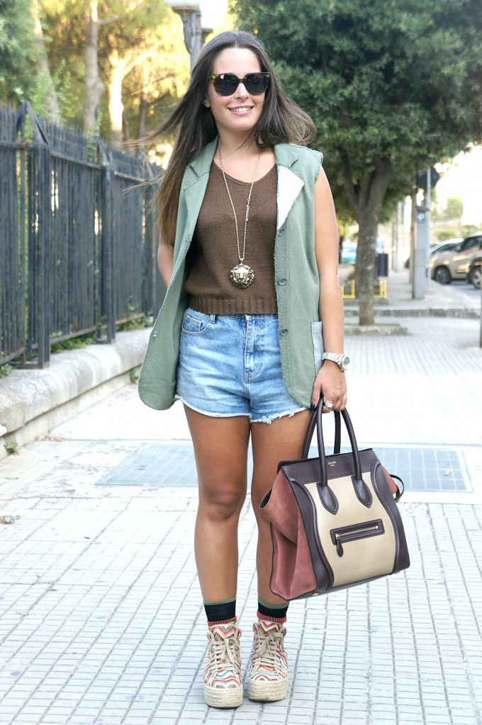 Mini shorts e crop top