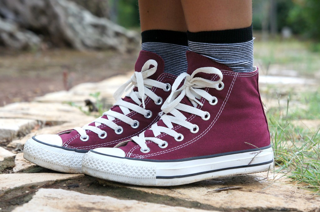 converse all star alte donna bordeaux