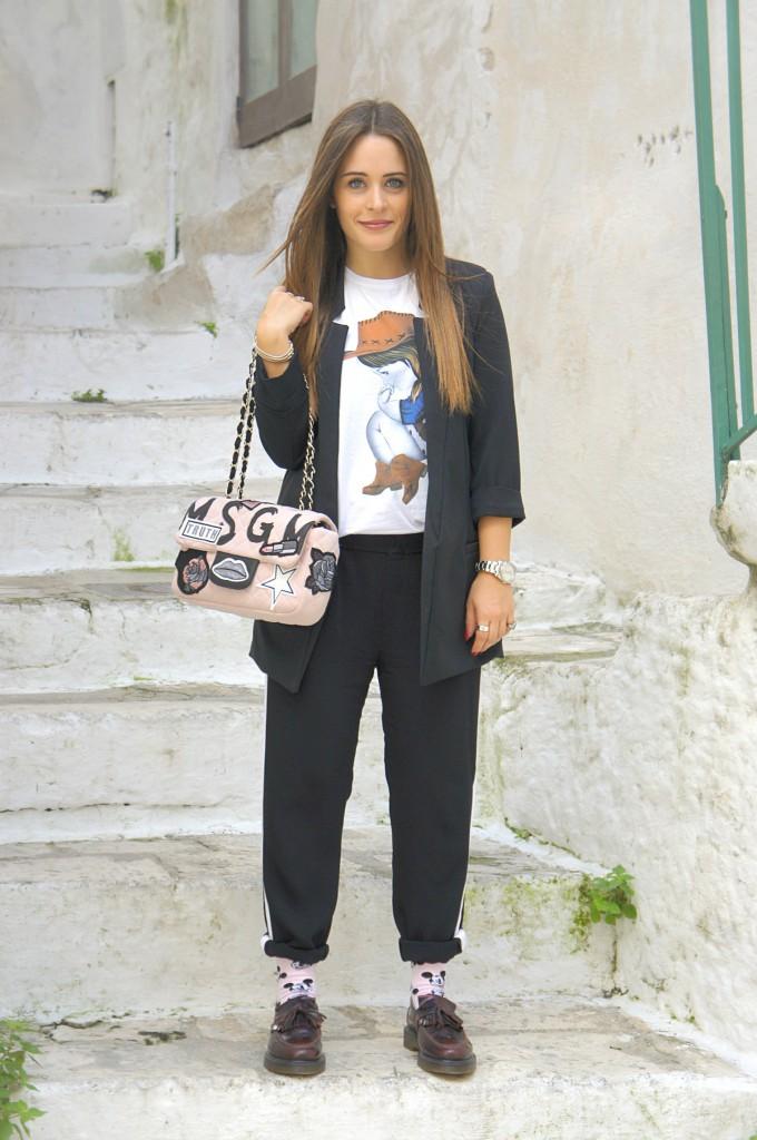 pantalone classico nero