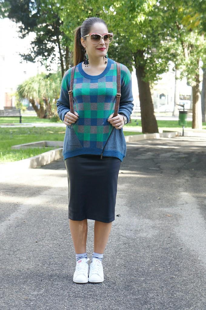longuette e maglione lungo