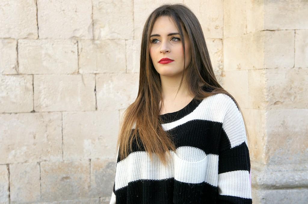 Maglione bianco e nero