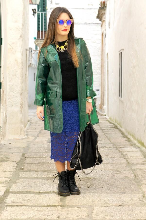 Cappotto Zara in un bellissimo e brillante blu Depop