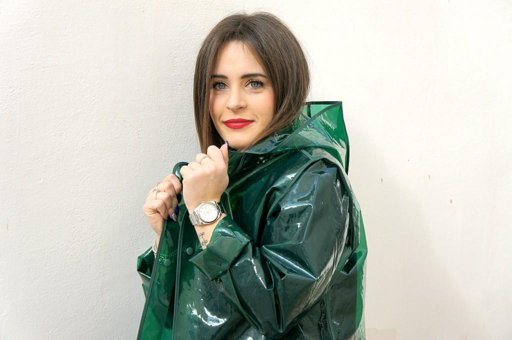 impermeabile verde