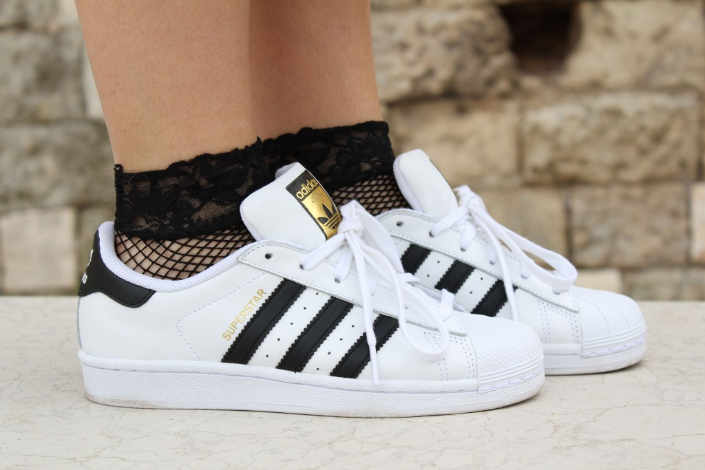 adidas superstar oro indossate