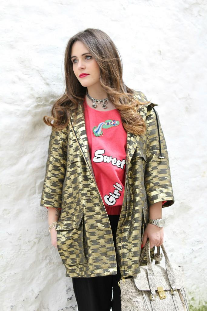 giacca dorata