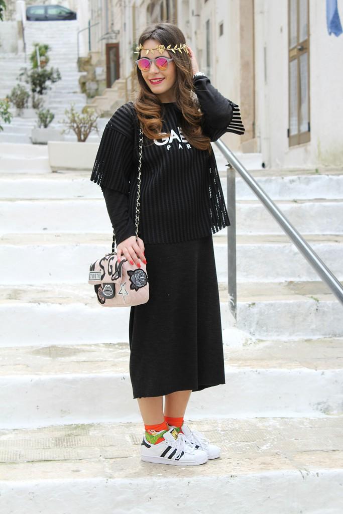 vestito lungo nero