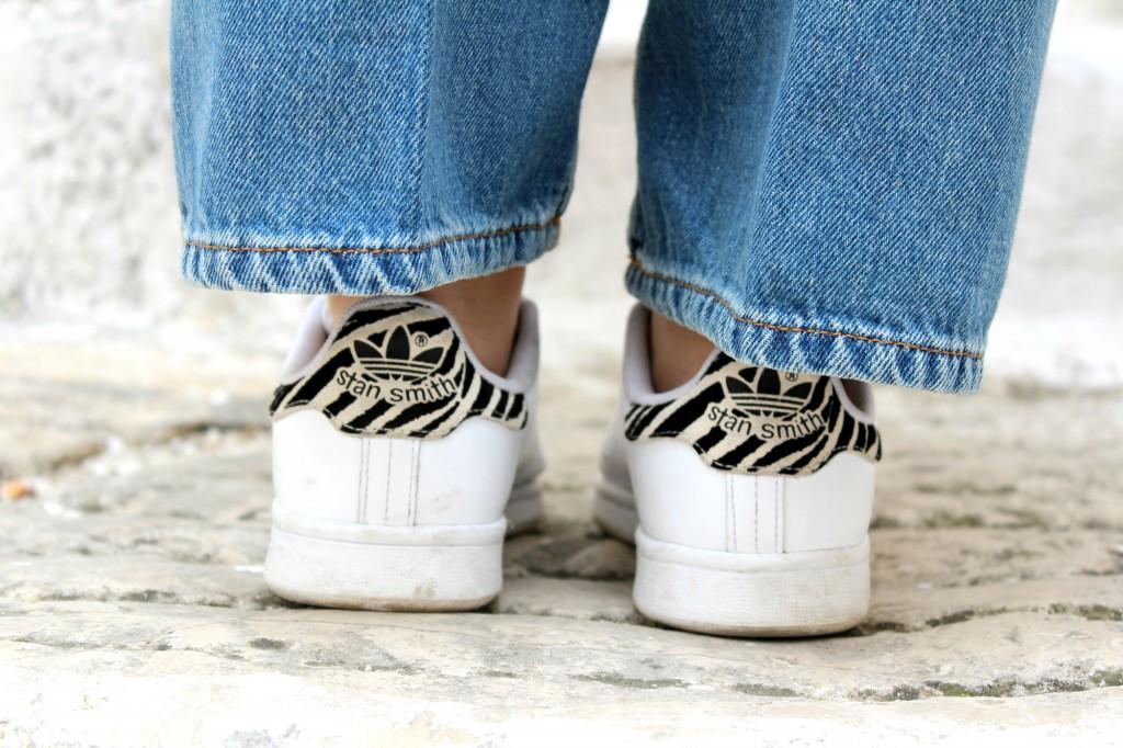 adidas stan smith bianche e leopardate