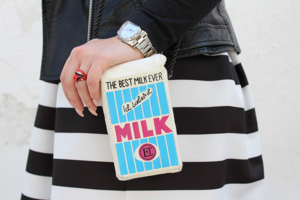 borsa a forma di latte