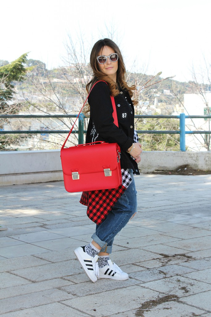 Adidas Superstar Nere E Bianche Outfit