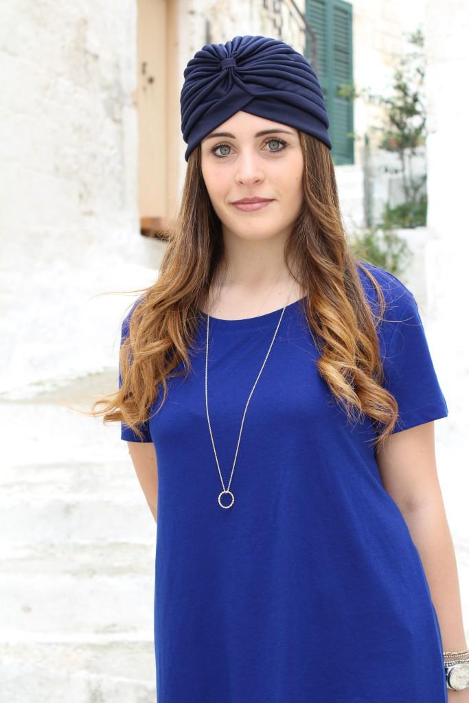 maglietta lunga blu