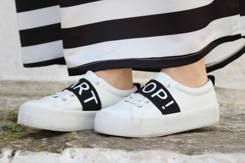 scarpe con para bianca
