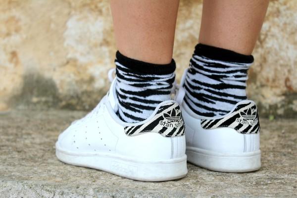 Outfit del giorno paillettes e dettagli zebrati for Stan smith colori