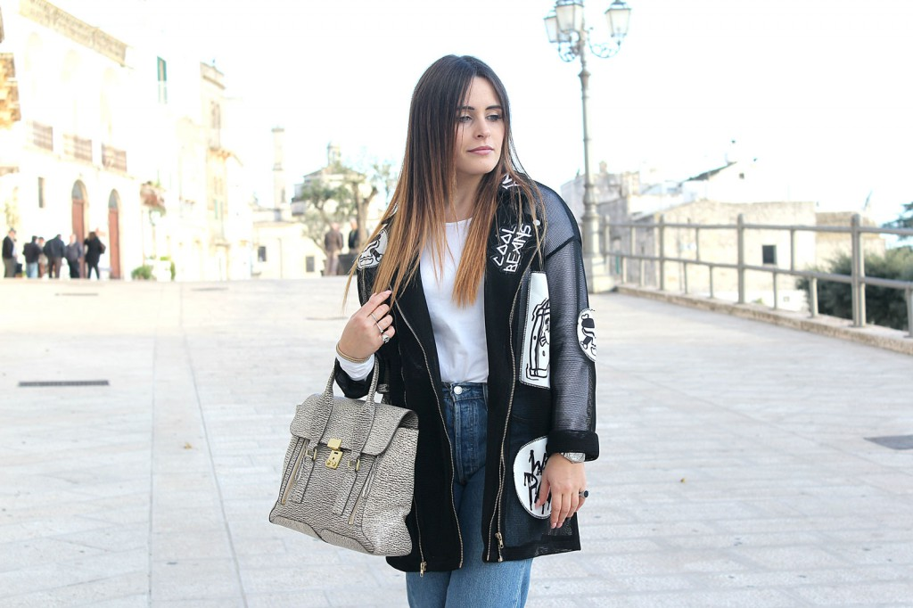 giacca lunga nera