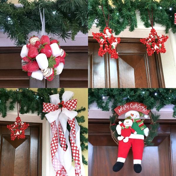 Natale 2015 la mia casa con addobbi bianchi e rossi - Addobbi di natale in casa ...