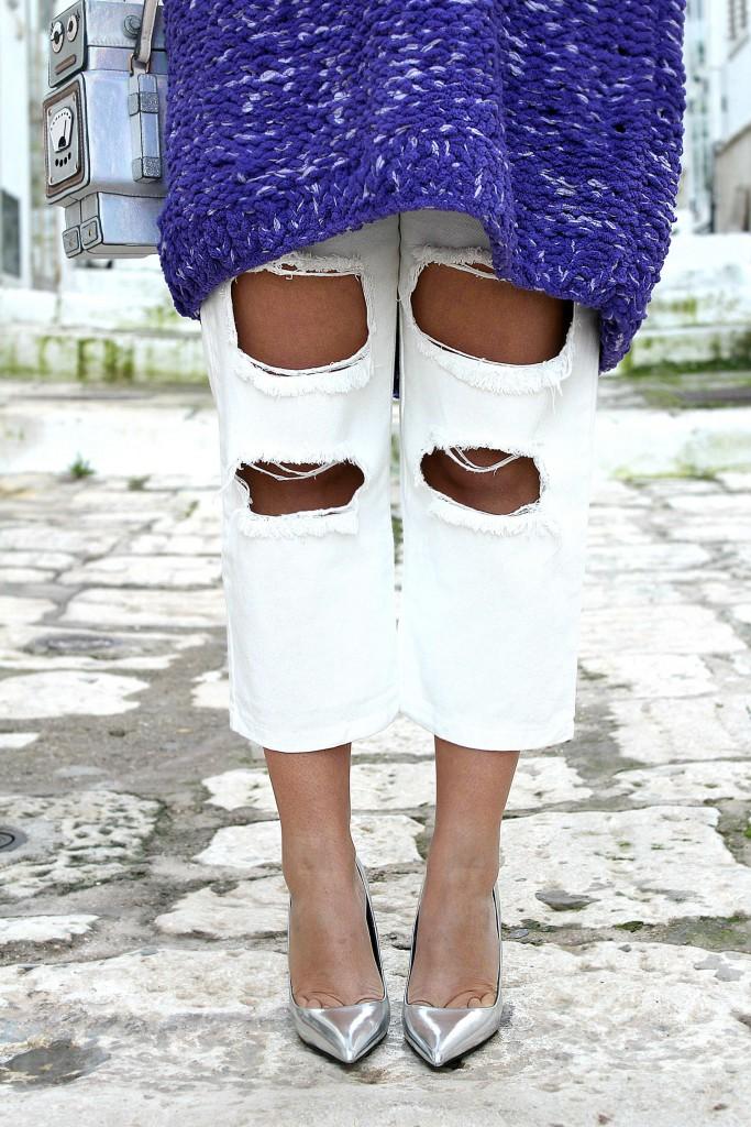 jeans bianchi strappati