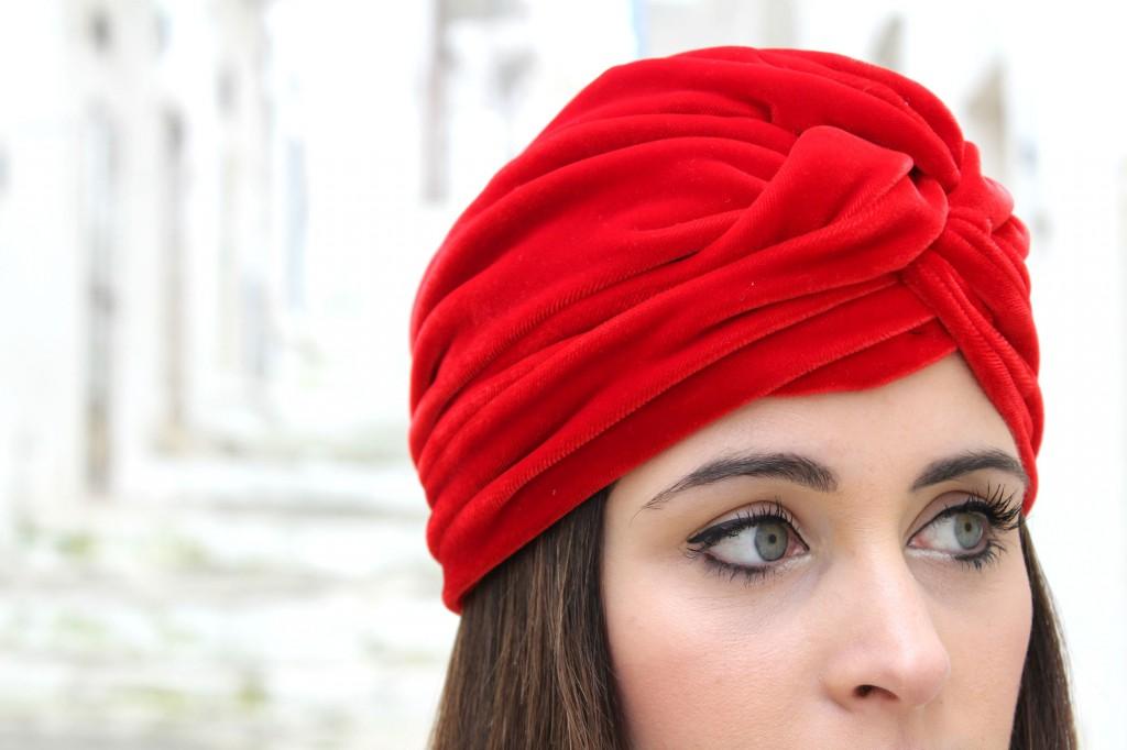 turbante rosso