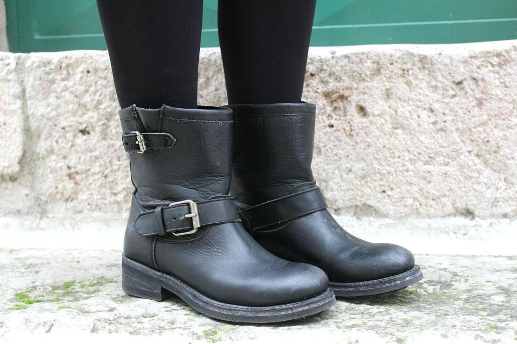 biker boots neri