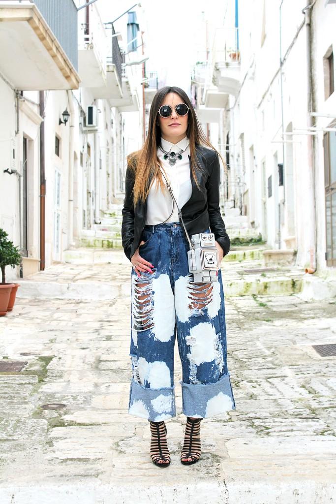 jeans macchiati