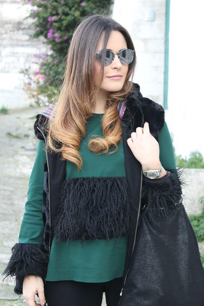 maglia con piume