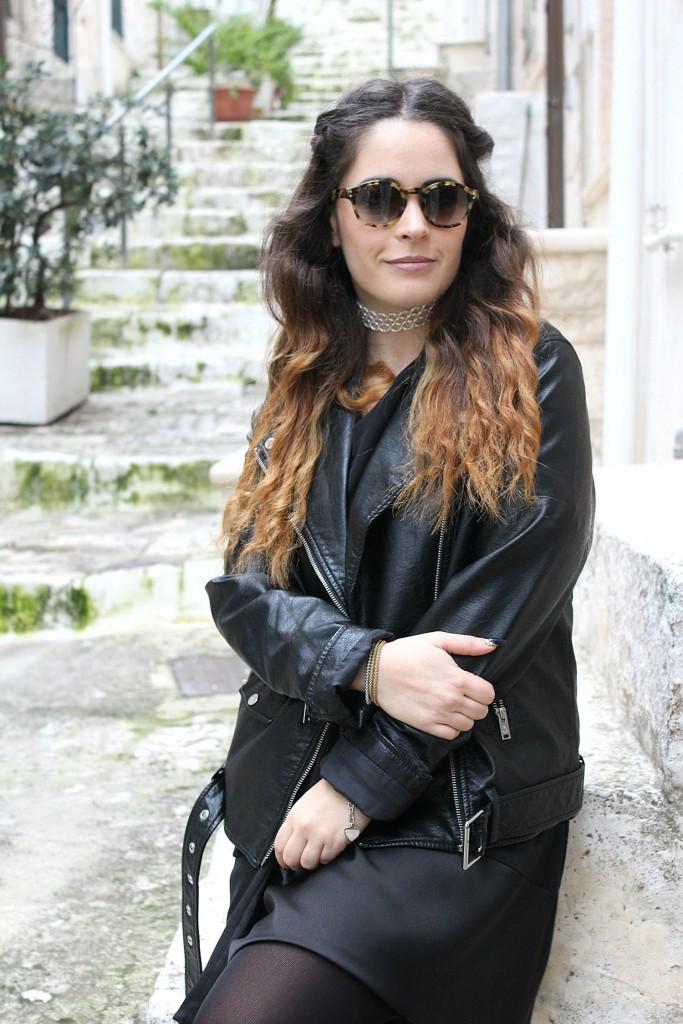 vestito nero, semplice