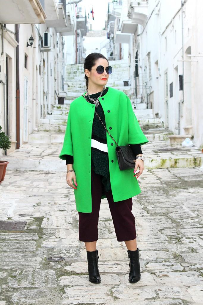 cappotto verde