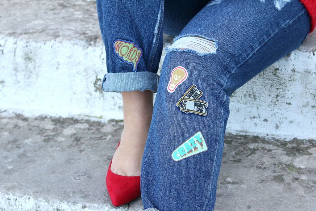 jeans con stampe