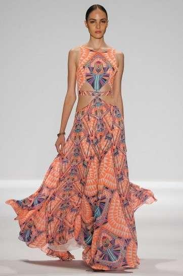 vestito lungo colorato