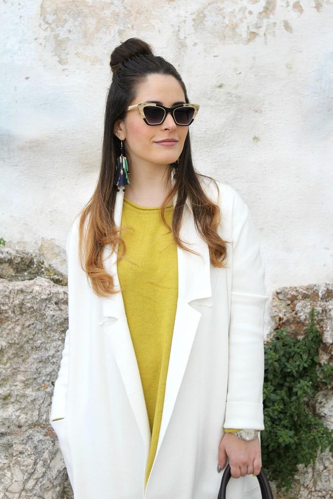 cappotto lungo bianco