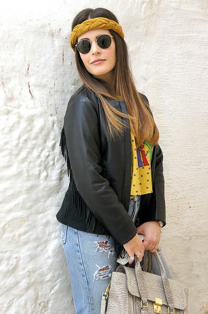 giacca con le frange