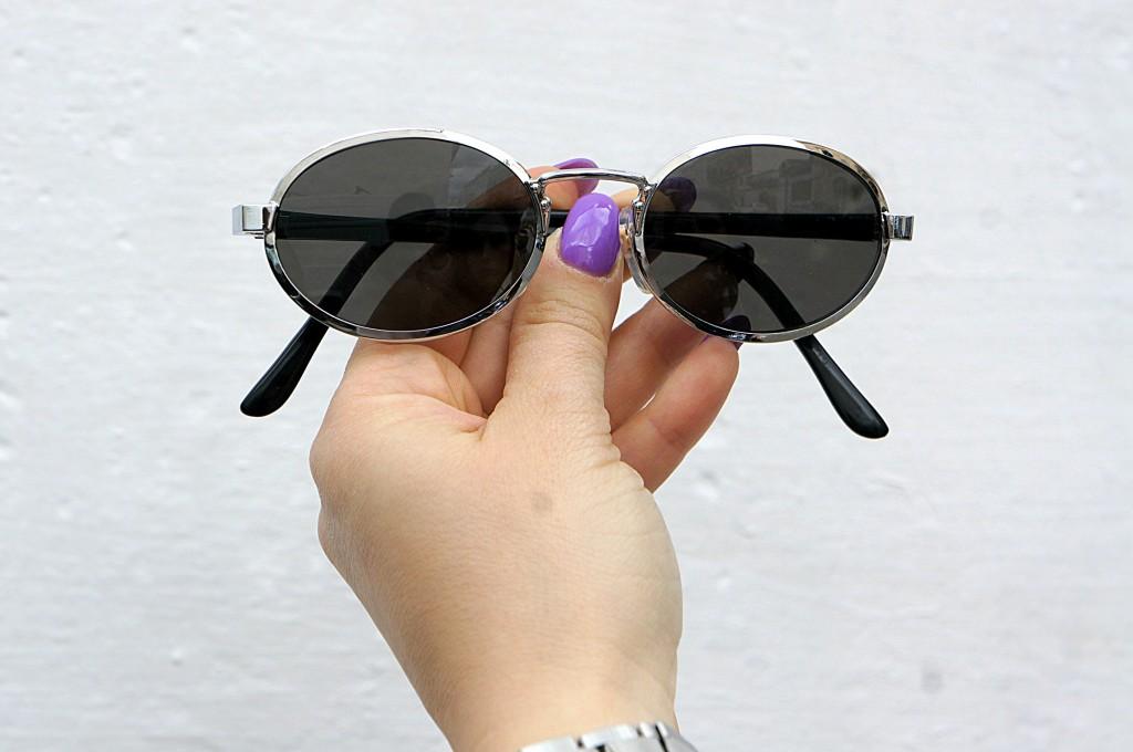 occhiali da sole tondi vintage