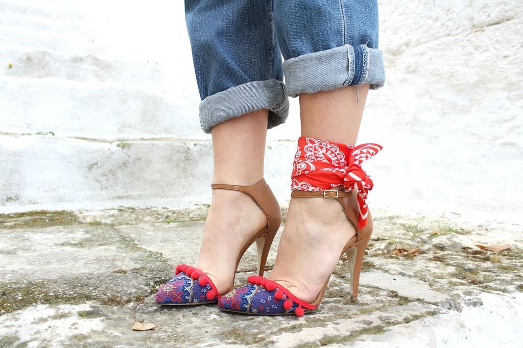 bandana alla caviglia