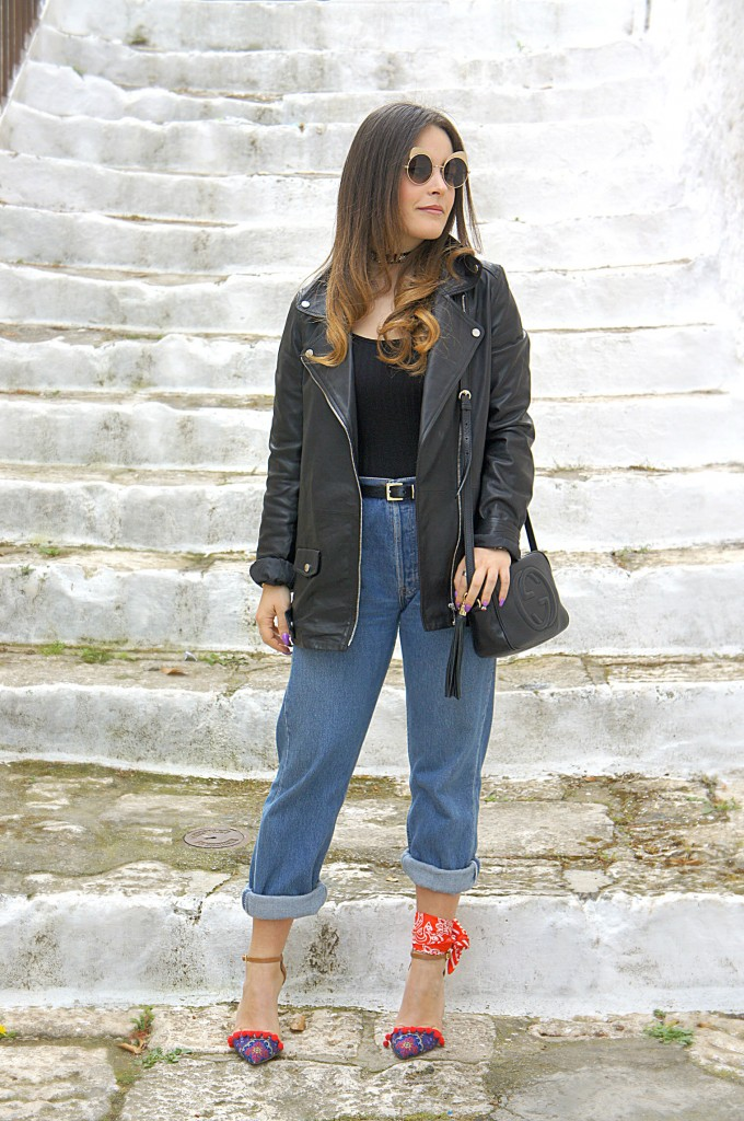 mom jeans street style