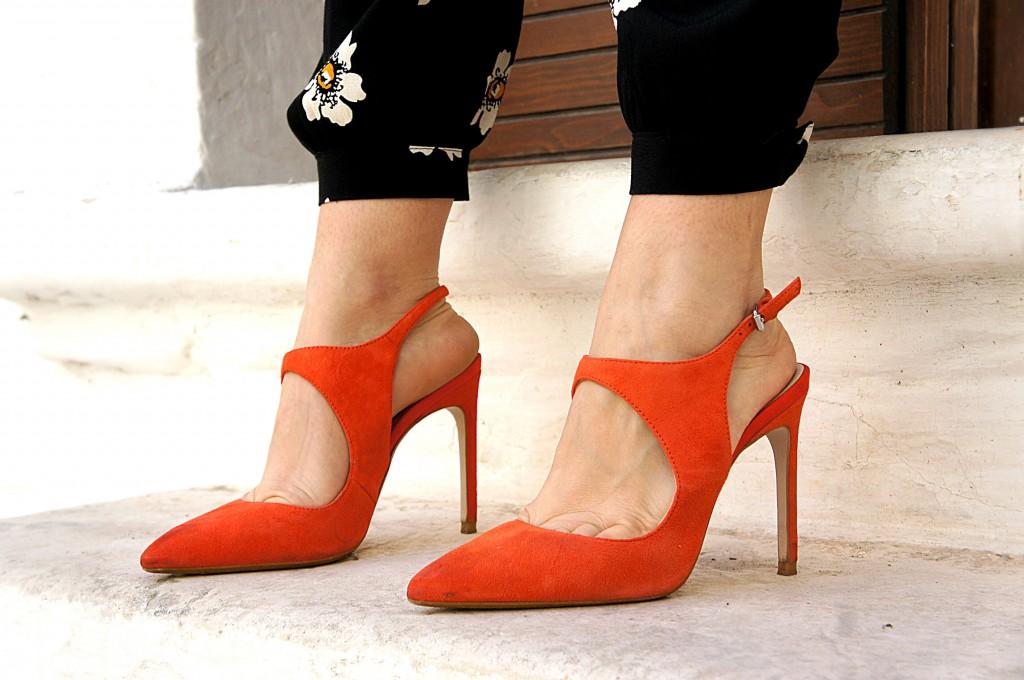 tacchi arancioni