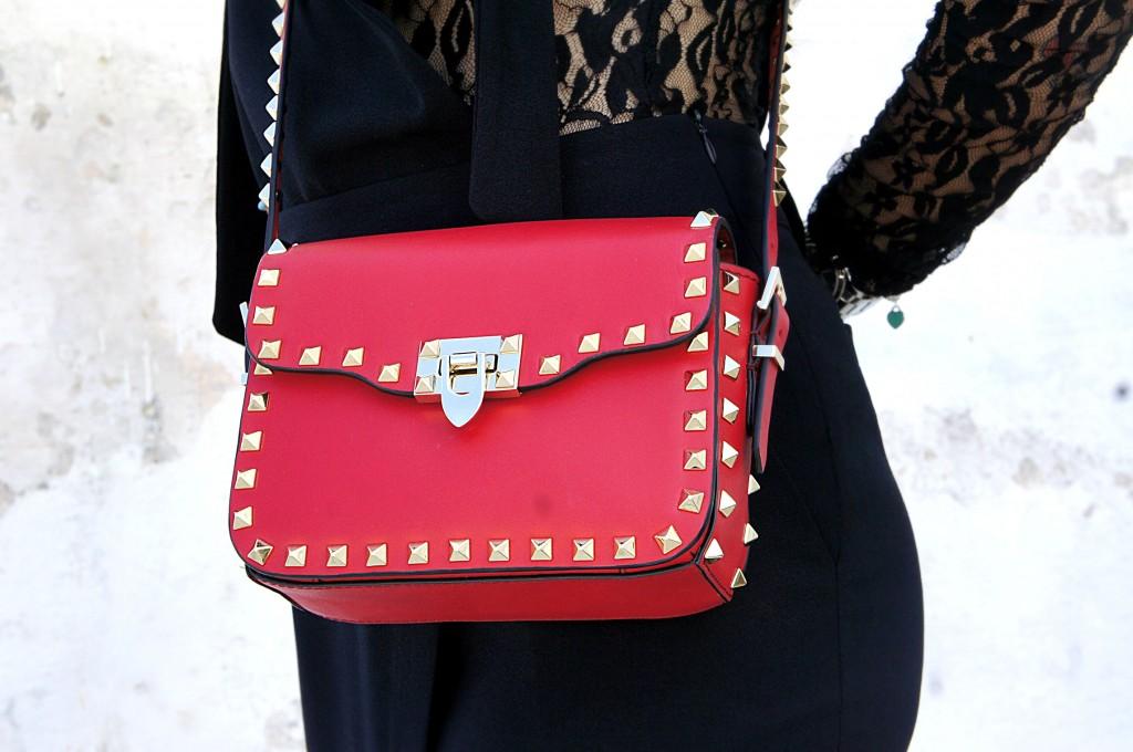 valentino rockstud flap-top