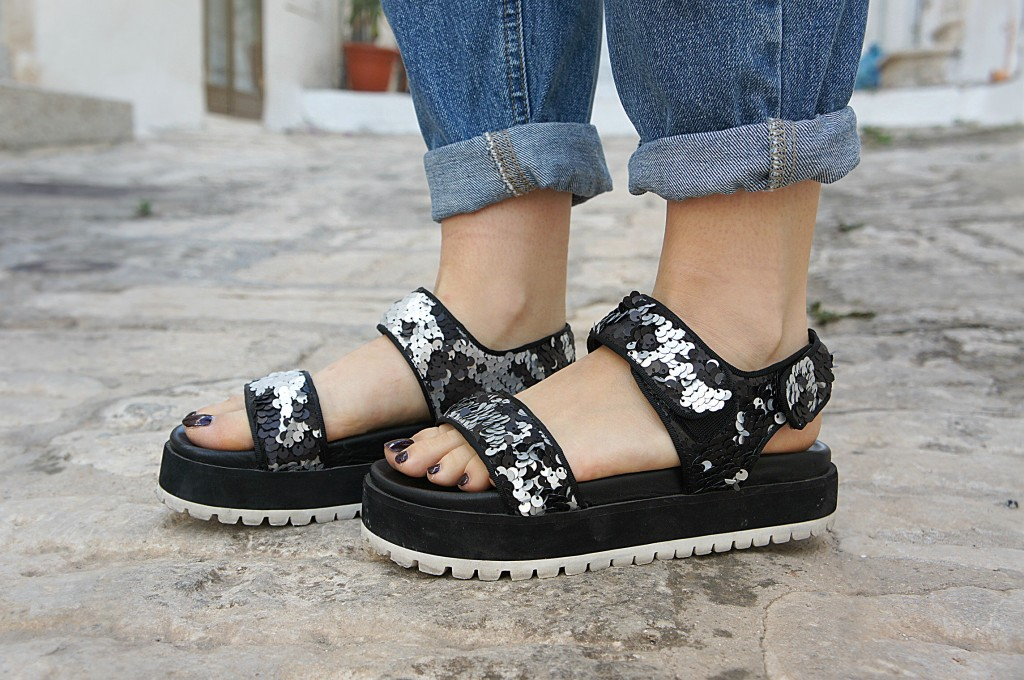 scarpe con paillettes