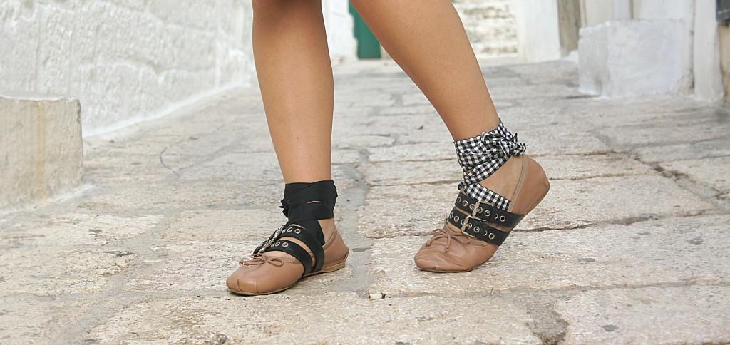 ballet laces miu miu