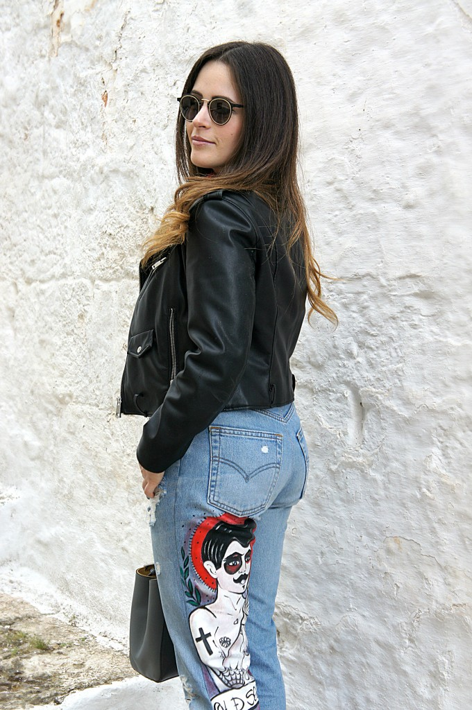 jeans levis pittati