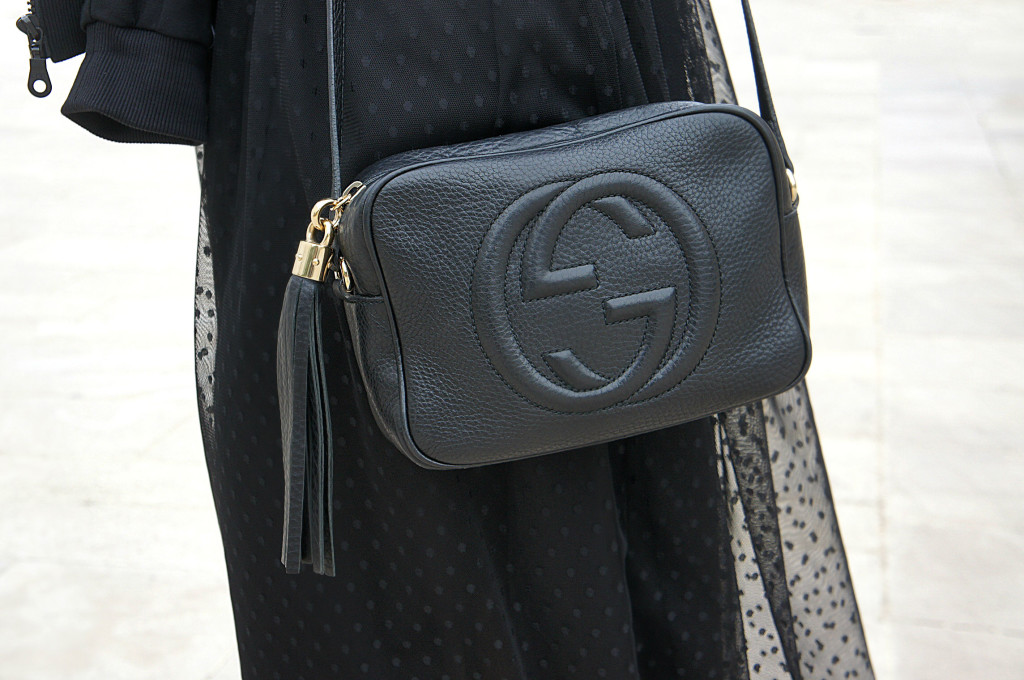 disco bag gucci nera