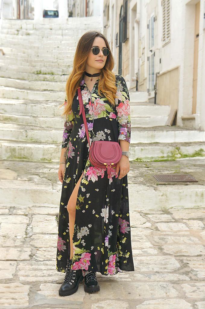 vestito a fiori lungo
