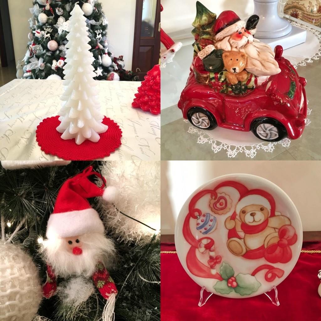 addobbi natalizi bianchi e rossi