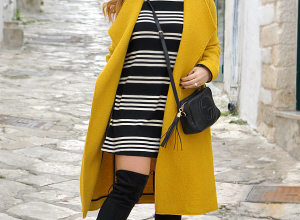 Cuissardes per l'Inverno ed un cappotto lungo giallo