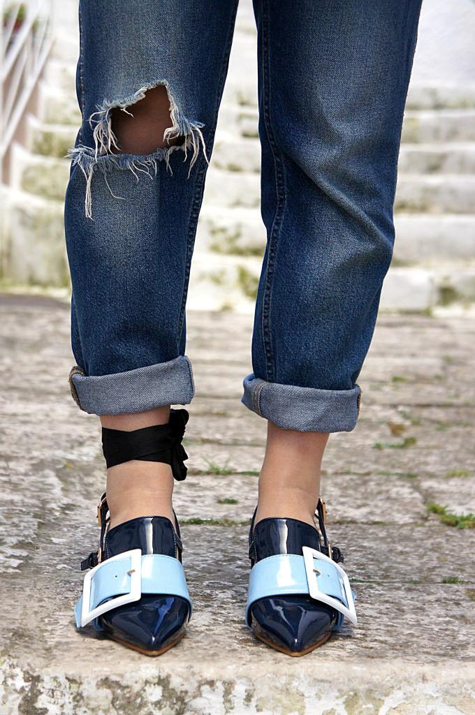 nastro alla caviglia