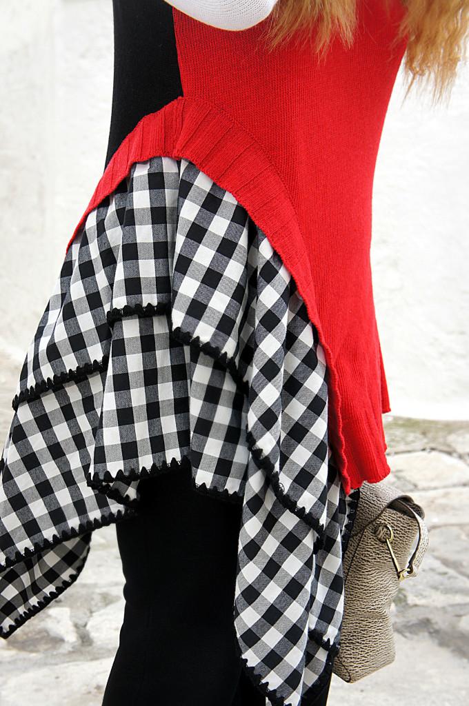 maglione asimmetrico