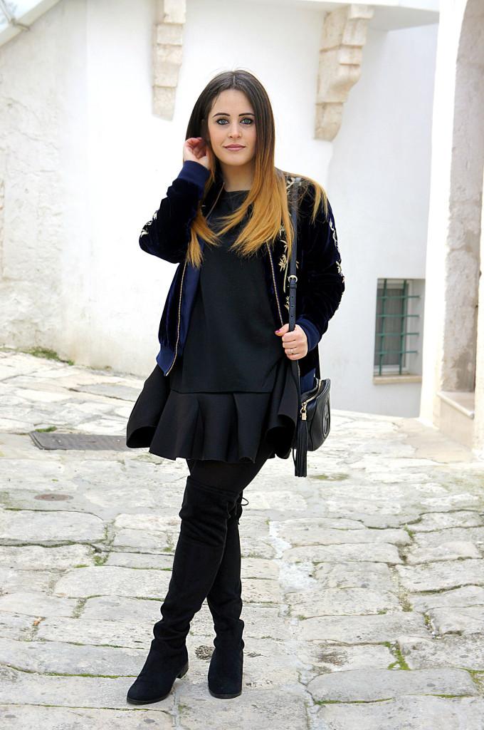 abito nero elegante